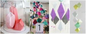 exemple pinterest diy papier géométrique